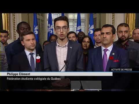 Modification PEQ-Intervention de Philippe Clément de la Fédération étudiante du Québec
