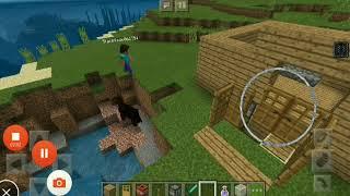 Trolling my friend in minecraft.