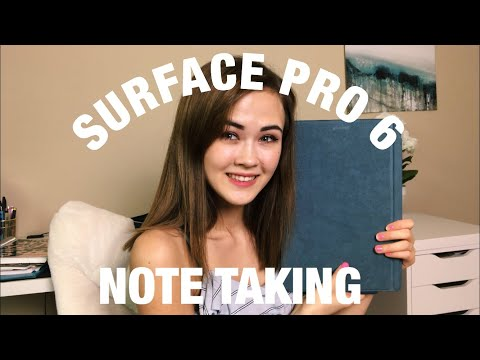 HOW I TAKE NOTES ON A SURFACE PRO 6 2019 | DIGITAL NOTE TAKING