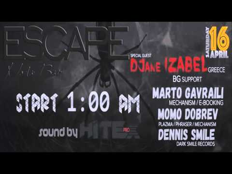 Dennis Smile - Live @ Escape /Stara Zagora/(16.April.2016)[TECHNO MIX]