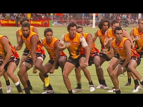 Indigenous All-Stars perform war dance in 2013 thumbnail