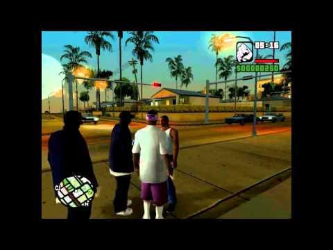 GTA San Andreas: CJ Chatting With The Ballas