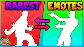 TOP 10 RAREST EMOTES!! DEZE EMOTES KOMEN NOOIT MEER TERUG!! - Fortnite: Battle Royale