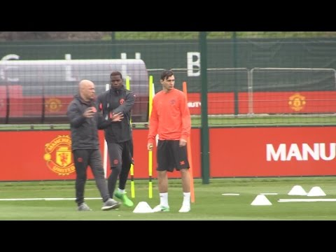 Manchester United Training Ahead Of Europa League Quarter-Final Second Leg Tie Against Anderlecht