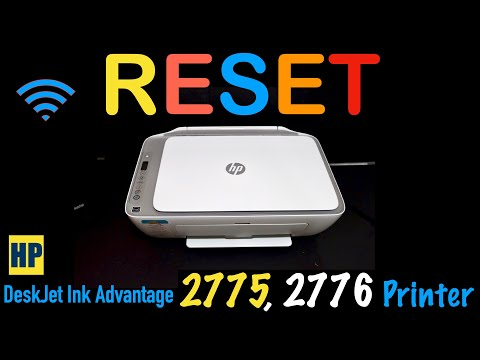 How To RESET HP DeskJet Ink Advantage 2776 & 2775 All-in-one printer review !!