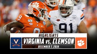 ACC Championship: No. 23 Virginia vs. No. 3 Clemson Football Highlights (2019) | Stadium