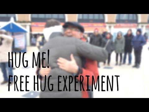 I trust you, do you trust me? Hug me! - FREE HUGS experiment