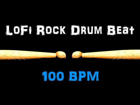 Rock Drum Beat 100 BPM Bass Guitar Backing Practice Track Free MP3