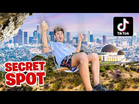 Finding SECRET TikTok Spots in my City! **HIDDEN GEMS**