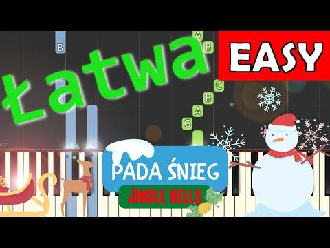 🎹 Pada śnieg (Dzwonki sań, Jingle bells) - łatwa synthesia 🎹