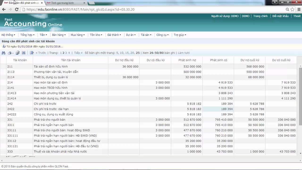 21. Kết chuyển cuối kỳ lên BCTC   Phần mềm kế toán   FAO
