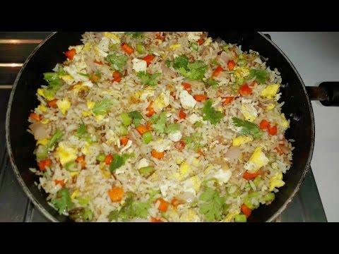Egg Fried Rice - Restaurant Style - ఎగ్ ఫ్రైడ్ రైస్ -- Indo Chinese Recipe