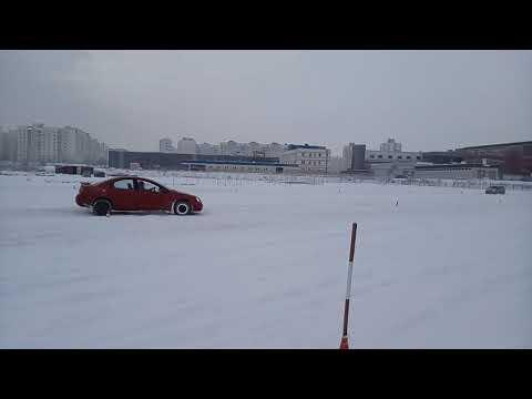 Зимнее вождение 11.02.18 змейка