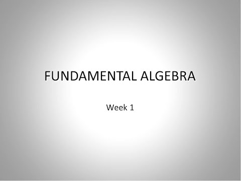 SEU: MATH-001: Fundamentals of Math [week1]