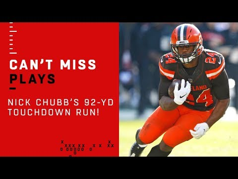 Nick Chubb Busts Out Longest Run in Browns History!!!