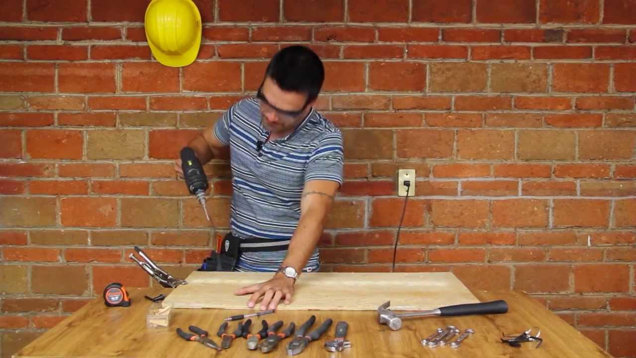 Soporte para herramientas youtube for Ganchos para colgar