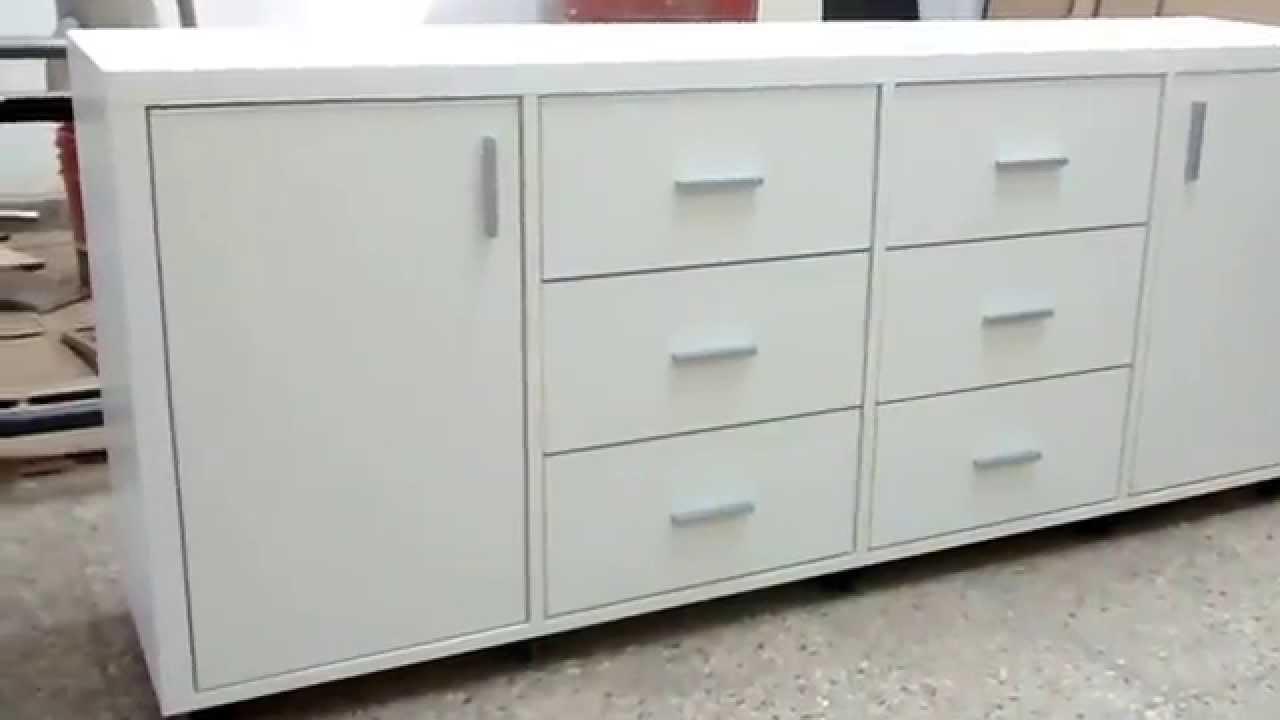 Dise os fdg c moda cajonera 2 puertas 6 cajones youtube - Comodas diseno ...