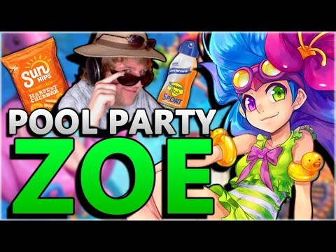 ZOE GOT EVEN CUTER!?! New Pool Party Zoe Skin Gameplay! - League of Legends