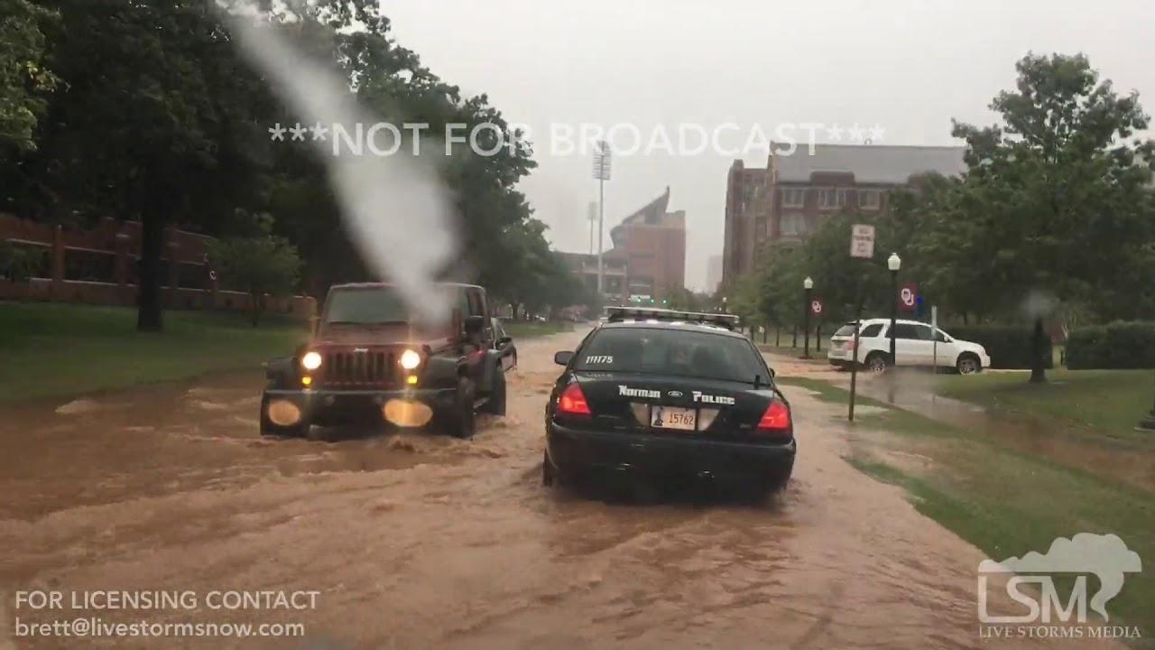 Man Cave Norman Ok : 10 04 12017 norman ok flooding on univeristy of oklahoma campus