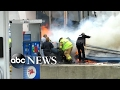 Firefighter trapped in Michigan convenience store fire