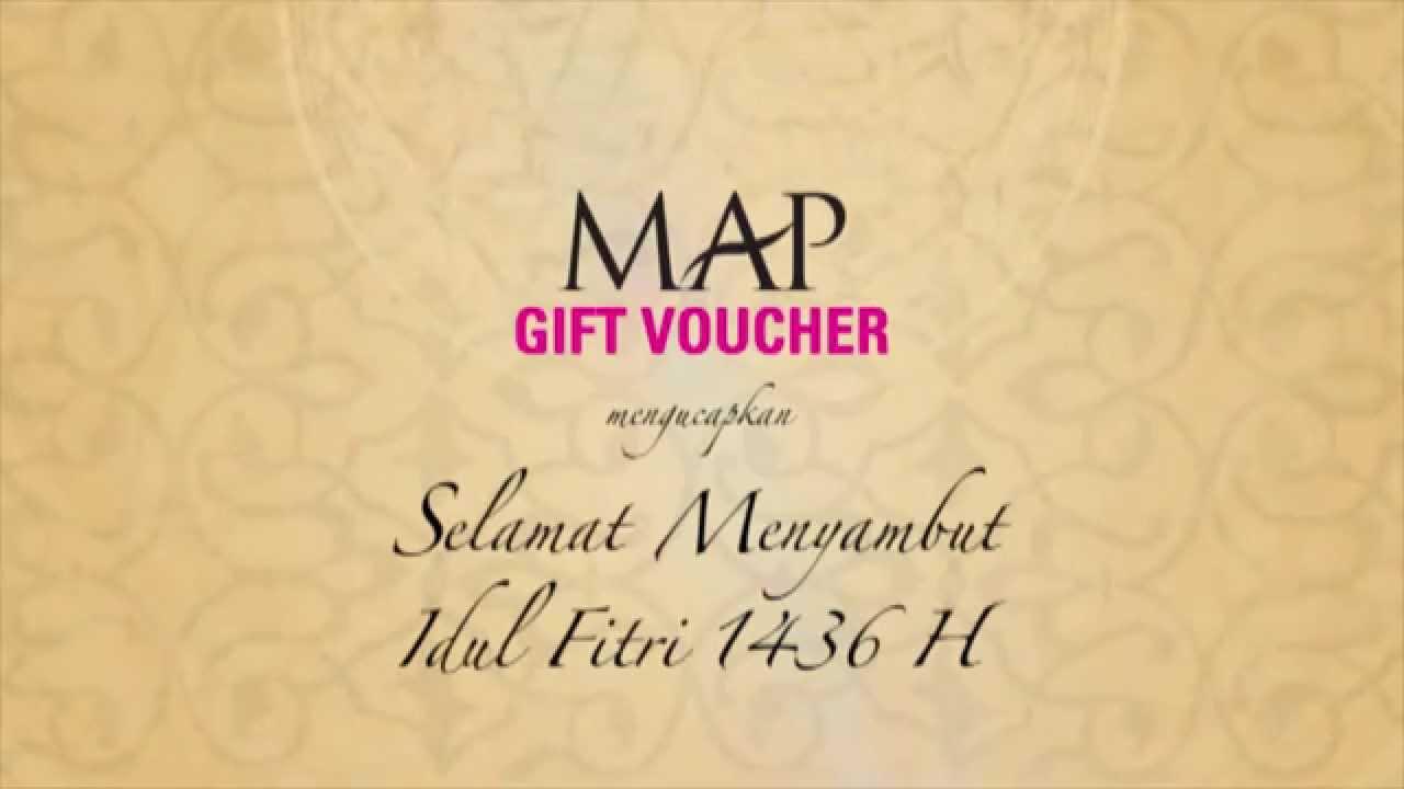 Map Gift Voucher Selamat Menyambut Idul Fitri 1436 H Youtube