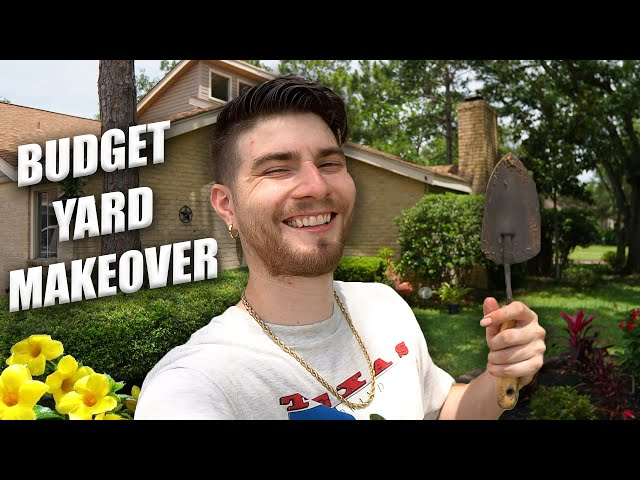 Budget Front Yard Makeover! DIY Landscape Transformation!
