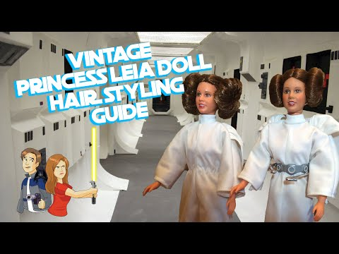"Star Wars Princess Leia Vintage 12"" Doll Hair Styling How-To Kenner 1979"