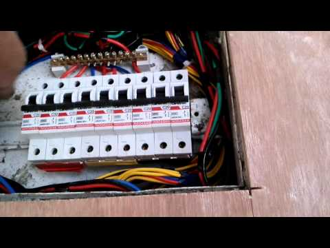 Electrical DB dressing and Cable installation wor. - YouTube