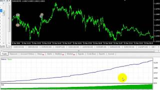 Monkey pip EA - EURUSD - back test - very amazing profit