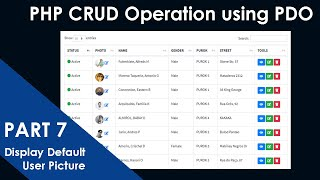 PART-7- PHP CRUD Operation using PDO Extension   Display Default User Picture (No Image Available)