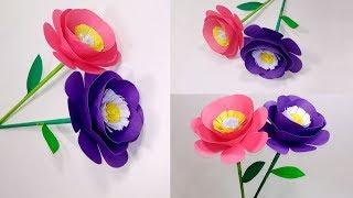 Paper Stick Flower | Beautiful & Pretty Stick Flower Making Step By Step | Jarine's Crafty Creation
