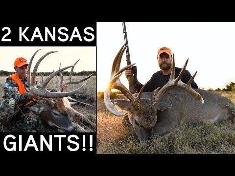 TWO KANSAS GIANTS! | Early Season Whitetail Hunting