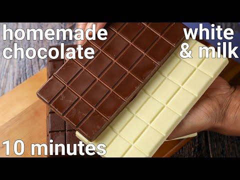 homemade white chocolate & milk chocolate recipe   homemade chocolate bars recipe