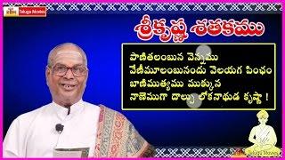 Krishna Satakam (పాణితలంబున వెన్నము ) || Telugu Padyam - Paanithalambuna Vennamu