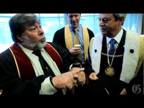 Steve Wozniak shows off his Nixie Watch