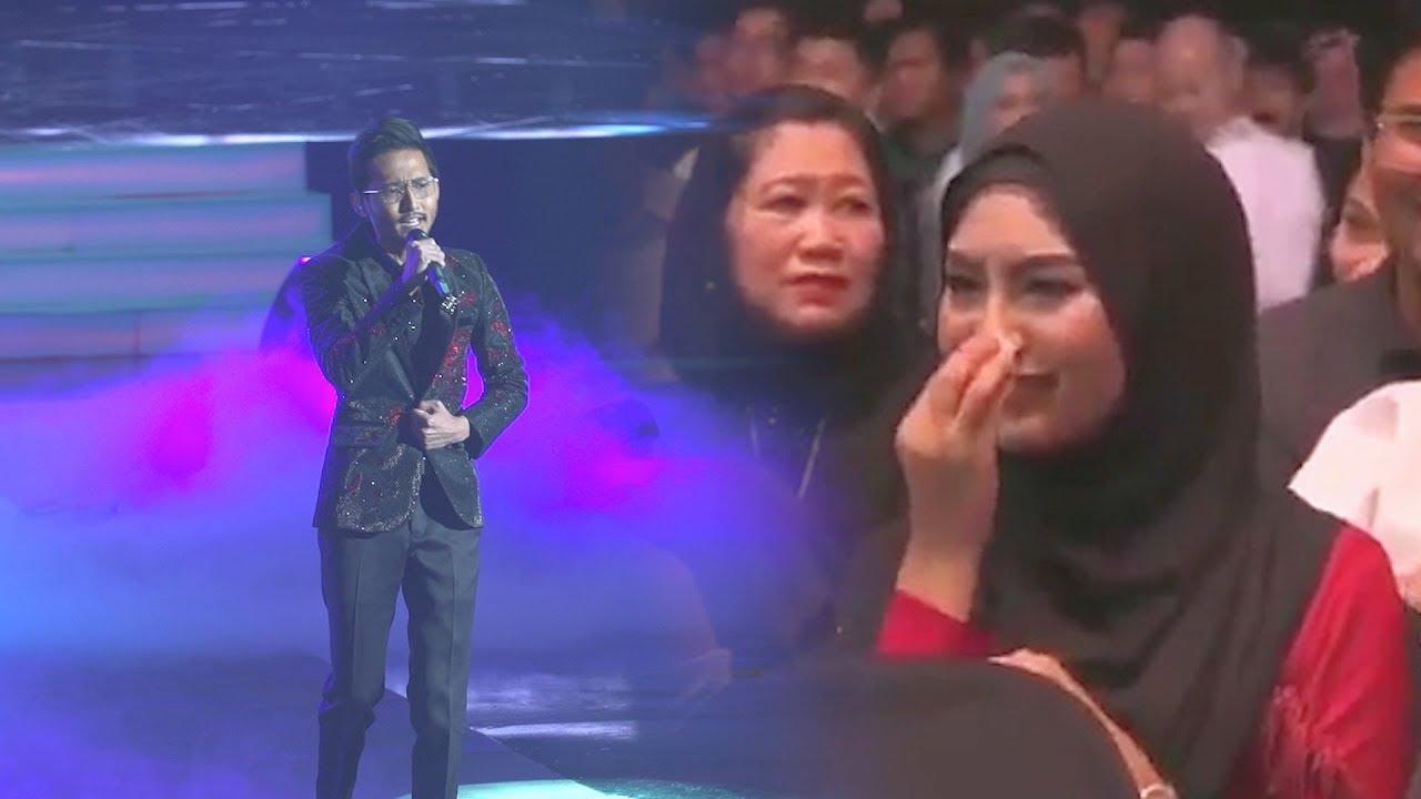 """""""Sebak… sampai ke hati"""" - Wany Hasrita menangis semasa Sufian Suhaimi nyanyi lagu 'Di Matamu'"""
