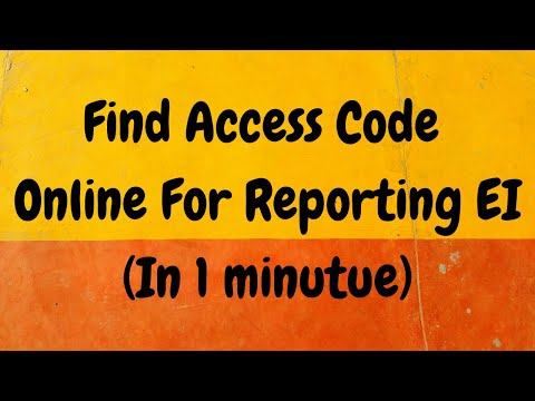 My Service Canada Account (MSCA) Access Code Online For EI Reporting