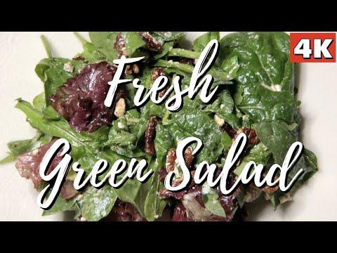 GREEN SALAD RECIPE | FRESH GREEN SALAD | QUICK SALAD RECIPE | GREEN SALAD | SIMPLE SALAD