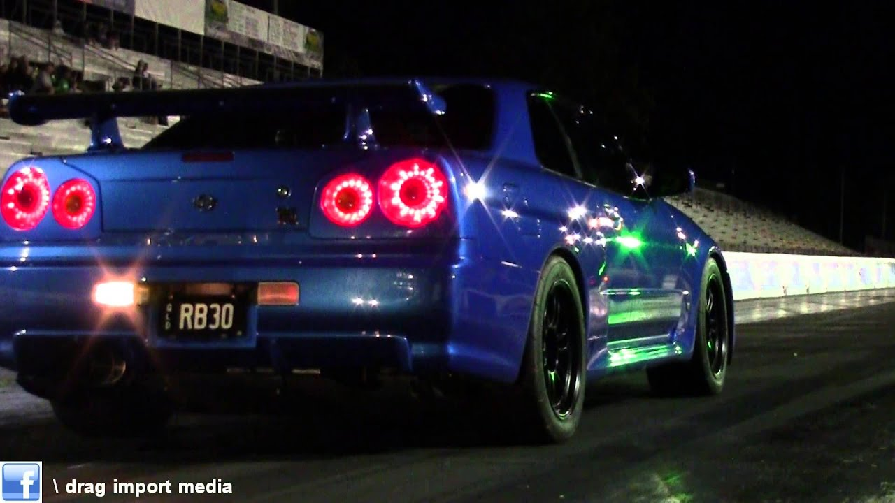Rb30 Skyline Gtr R34 Runs 9 0 Tnt 8 03 2014 Youtube
