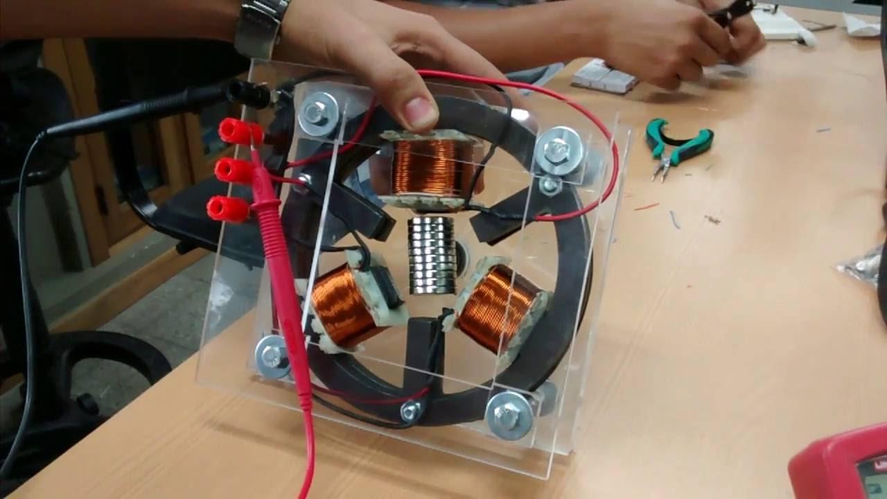 Generador trif sico educativo sin arreglo halbach youtube - Generador de luz ...