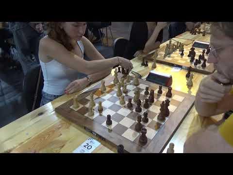 WIM Anna Kantane – IM Miedema David, Blitz chess, Sicilian defense