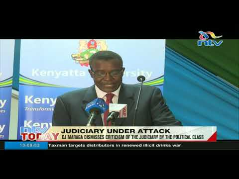 CJ Maraga dismisses criticism of the Judiciary by the political class