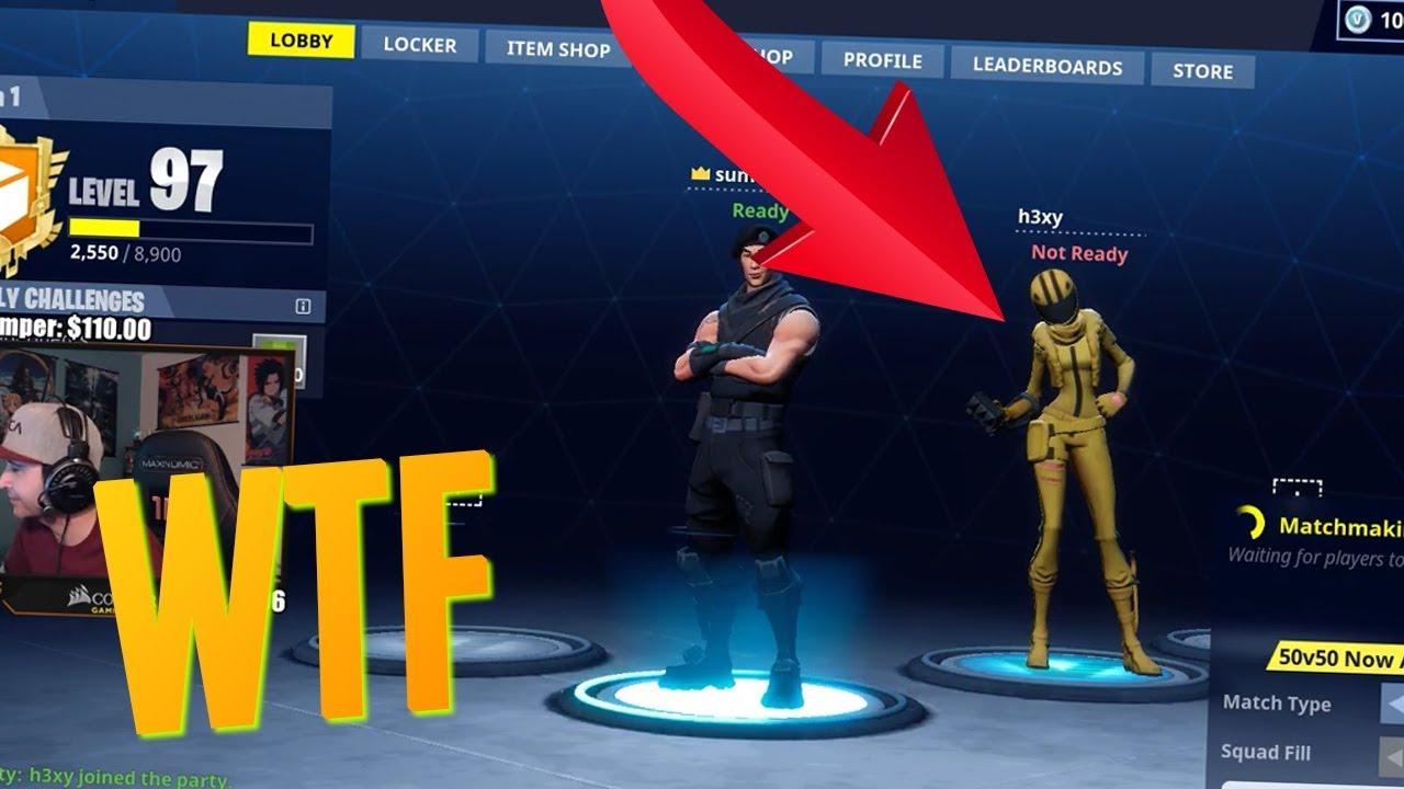 SECRET LEAKED SKIN ON FORTNITE?! (Fortnite Battle Royale