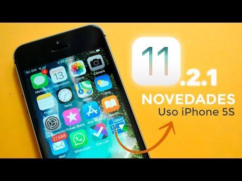 iOS 11.2.1 Novedades & Uso en iPhone 5S