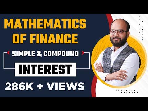 #1 | Mathematics of finance | Part :1 | simple and compound interest |  B.com | CS | CMA