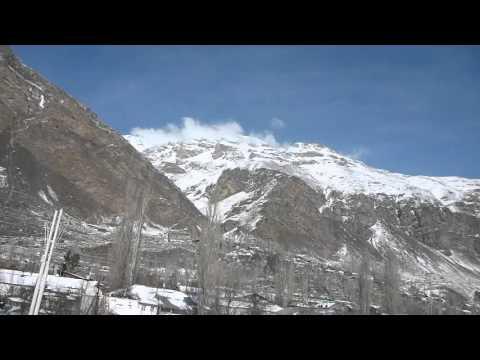 Beautiful Pamir Scenery and City View   Khorog   Gorno Badakhshan   Jan 2016