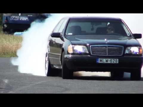 Mercedes S 600 V12 Biturbo 0-270km/h Acceleration, And Burnout || KO 860