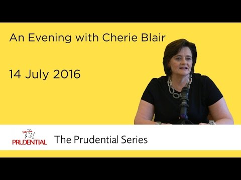 An evening with Cherie Blair
