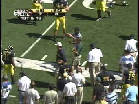 Michigan vs Notre Dame 2005 Highlights
