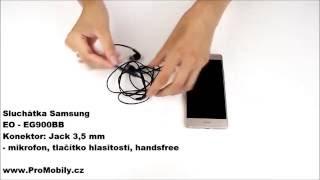Ukázkové video - Originální sluchátka Samsung EO - EG900BB černá